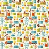 Energy, electricity, power vector seamless background Stock Photos
