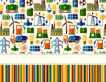 Energy, electricity, power vector seamless background with place for text Stock Photography