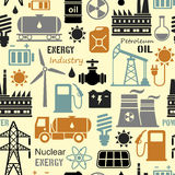 Energy, electricity, power vector seamless background Stock Photo