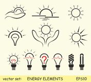 Energy elements Stock Image