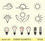 Energy elements. Vector set of energy elements Stock Image