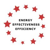 Energy Emblem. Energy, Effectiveness and Efficiency Emblem Stock Photography