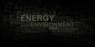 Energy and environment – word cloud Royalty Free Stock Images