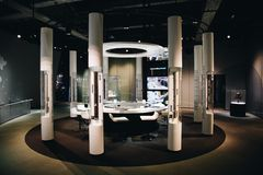 Energy Experiment room in Nagoya Science Museum stock image