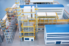 Energy factory production line building models Royalty Free Stock Photo