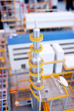 Energy factory production line building models Stock Photography