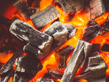 Energy of fire. Fire from firewood provides heat and energy Royalty Free Stock Photography