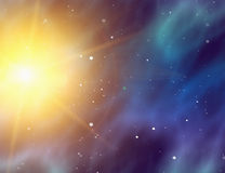 Energy flash in space background Royalty Free Stock Photography