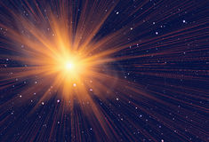 Energy flash in space background Stock Images