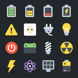 Energy Flat Icons Royalty Free Stock Photography