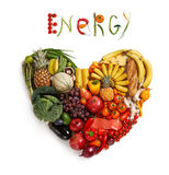 Energy food choice Royalty Free Stock Image
