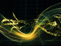 Energy of Fractal Realms Stock Photos