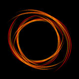 Energy frame. Shining circle banner. Magic light neon energy circle. Glowing fire ring trace. Royalty Free Stock Image