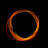 Energy frame. Shining circle banner. Magic light neon energy circle. Glowing fire ring trace Stock Images