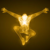 Energy of the free falling man figure. royalty free illustration