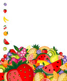 Energy fruit background for your design Stock Image