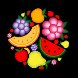 Energy fruit background for your design Royalty Free Stock Photography