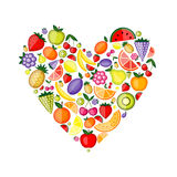 Energy fruit heart shape for your design Stock Photos