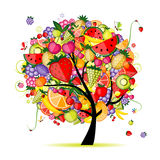 Energy fruit tree for your design Royalty Free Stock Photo