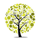 Energy fruit tree for your design Royalty Free Stock Photos