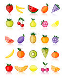 Energy fruits. Vector collection. For your design Stock Photography