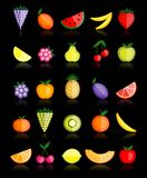 Energy fruits. Vector collection for your design Royalty Free Stock Photography