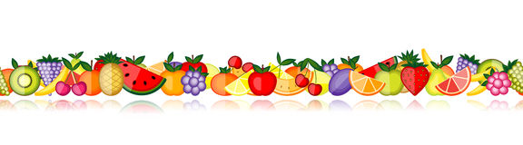 Energy fruits. Vector collection for your design Stock Photo