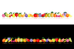 Energy fruits. Vector collection for your design Stock Image