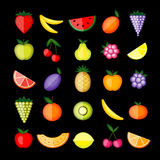 Energy fruits. Vector collection for your design Royalty Free Stock Photos