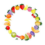 Energy fruits. Vector frame for your design Royalty Free Stock Images