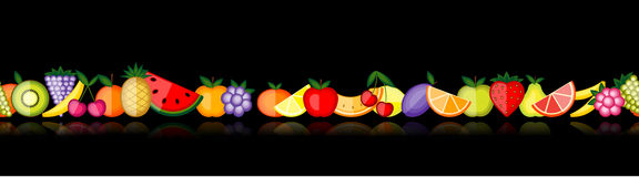 Energy fruits. Vector seamless Stock Photos