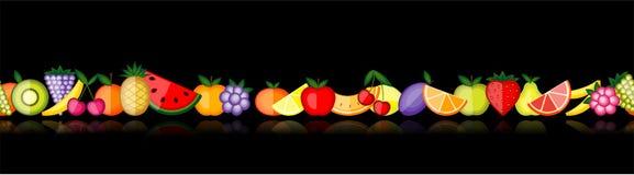Energy fruits. Vector seamless Stock Photos