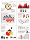 Energy and fuel charts. Infographics with statistics and charts for energy and fuel consumption Stock Photo
