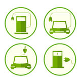 Energy fuel icons. Flat style. environmentally friendly fuels. Royalty Free Stock Photo