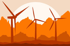Energy generator stock illustration