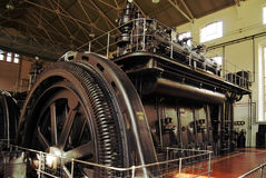 Energy generators. Ancient big energy generators, constructed to produce electricity Royalty Free Stock Photos