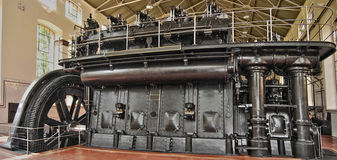 Energy generators. Ancient big energy generators, constructed to produce electricity Royalty Free Stock Image