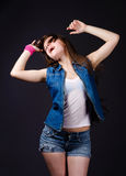 Energy girl Royalty Free Stock Images