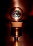 Earth. Inside a bulb lamp - Conceptual Stock Photos