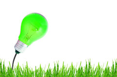 Energy green bulb Stock Photo