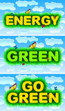 Energy, Green, Go Green Stock Photo