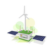 Energy green. Wind and solar energy Stock Photo
