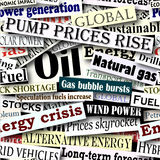 Energy headlines Royalty Free Stock Photos