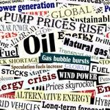 Energy headlines tile. Editable vector seamless tile of energy headlines Royalty Free Stock Image