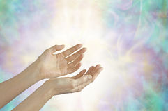 Energy healer with open hands Royalty Free Stock Photography