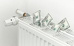 Energy heating costs Stock Image