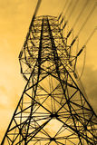 Energy and high voltage powerline Stock Images