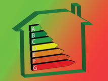 Energy House - Ratings. Energy saving scale - ratings A to G Royalty Free Stock Photo