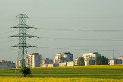 Energy for housing estate. Stream energy for housing estate Stock Photography