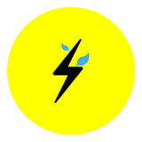 Energy icon Royalty Free Stock Images